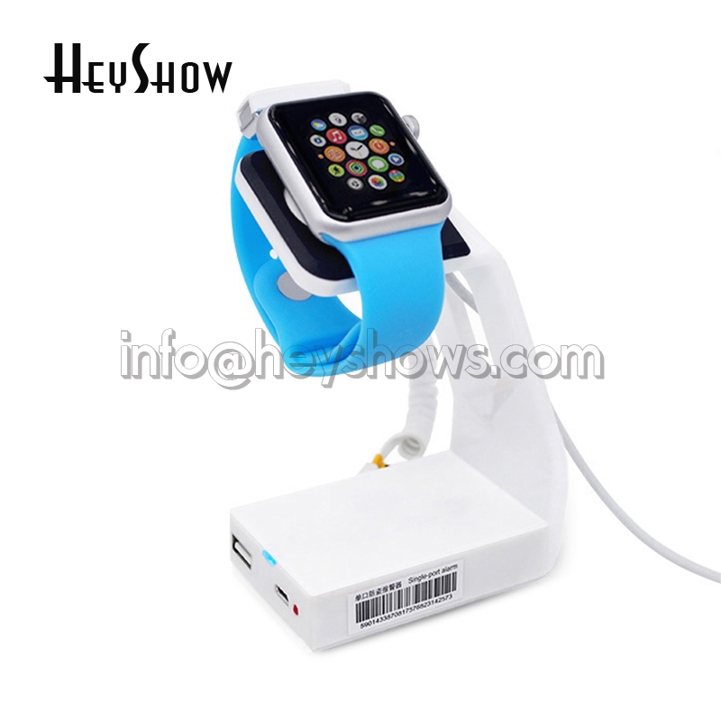 10x Apple watch security display stand holder alarm for smart watch retail store loss prevention exhibition acrylic watch security lock apple watch alarm holder smart watch display stand anti theft for retail with key remote control