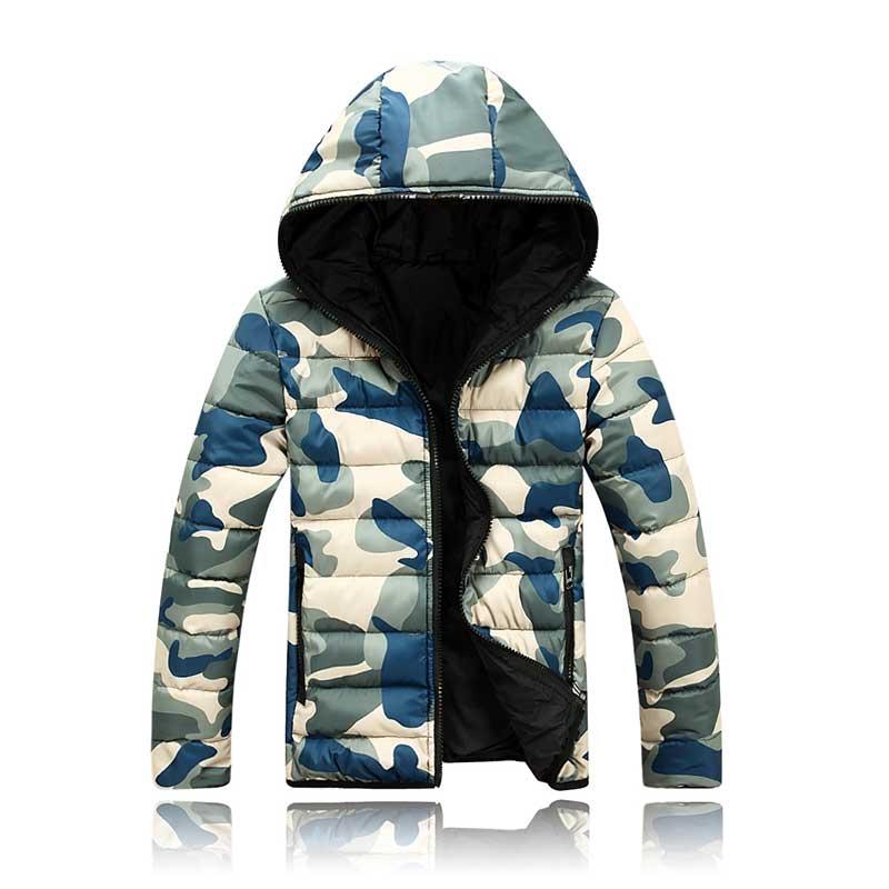 2019 New Men Cotton Clothing Parkas Candy Zipper Male Warm Parkas Men's Hooded Jacket Coat M 3xl