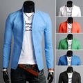 2017 New suit men 6 color casual jacket terno masculino latest coat small collar designs blazers men coat with a button  M-3XL