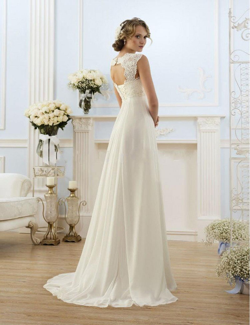 Sexy Beach Empire Plus Size Maternity Wedding Dresses Cap Sleeve ...