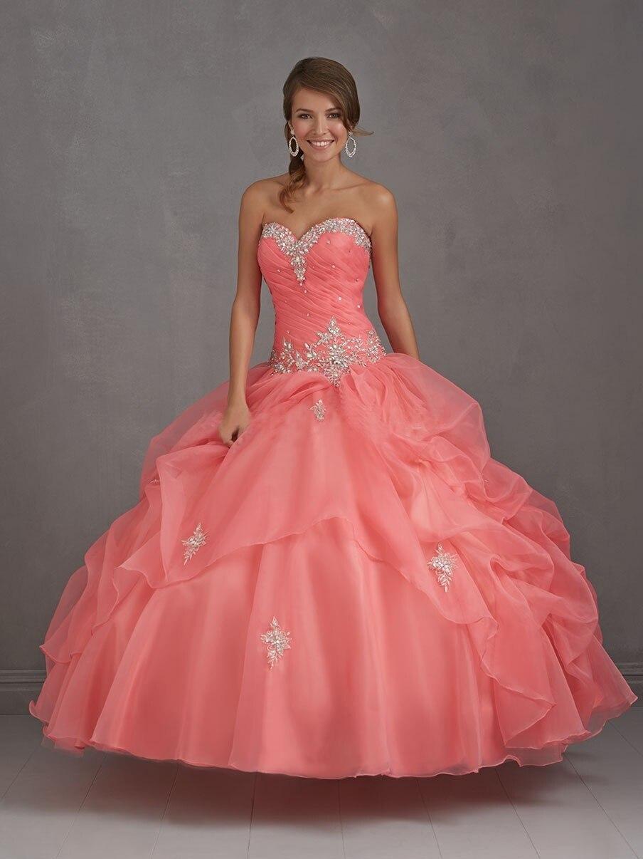 Vestidos elegantes Quinceanera Swetheart Organza del Vestido De bola ...