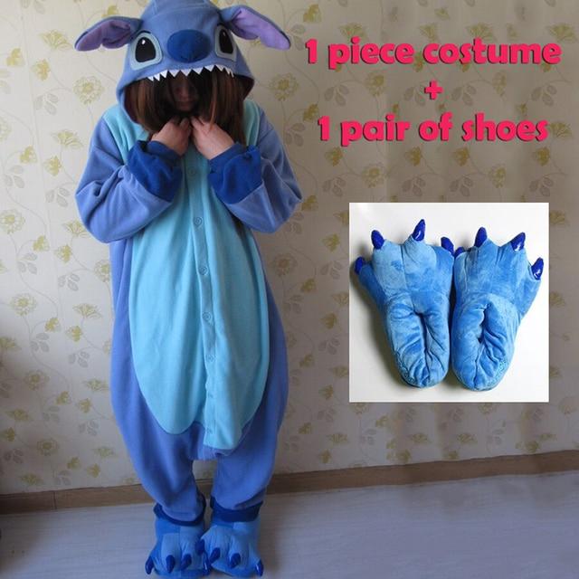 Disfraz de pijama de cosplay de animal para mujeres onesies para adultos de fiesta de pijamas una pieza azul Rosa puntada onesie lilo y stitch disfraces