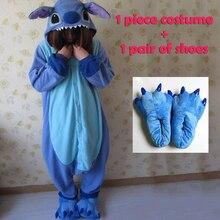 Животных Косплей пижамы костюм женщин onesies для взрослых вечерние Пижама  one piece Синий Розовый стежка onesie cd95362249347