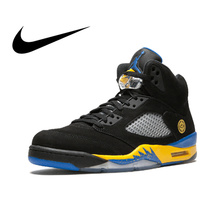 buy popular 80c81 d79bc Original Authentic Nike Air Jordan 5 Retro Laney Men s Basketball Shoes  Sports Breathable Outdoor Sneakers Arrival