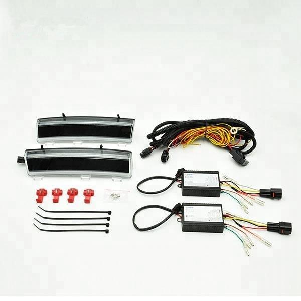 2x lentille fumée blanc/ambre 2006-2009 2007 2008 pour Nissan 350Z Z33 feux de jour LED avec feu de signalisation latéral