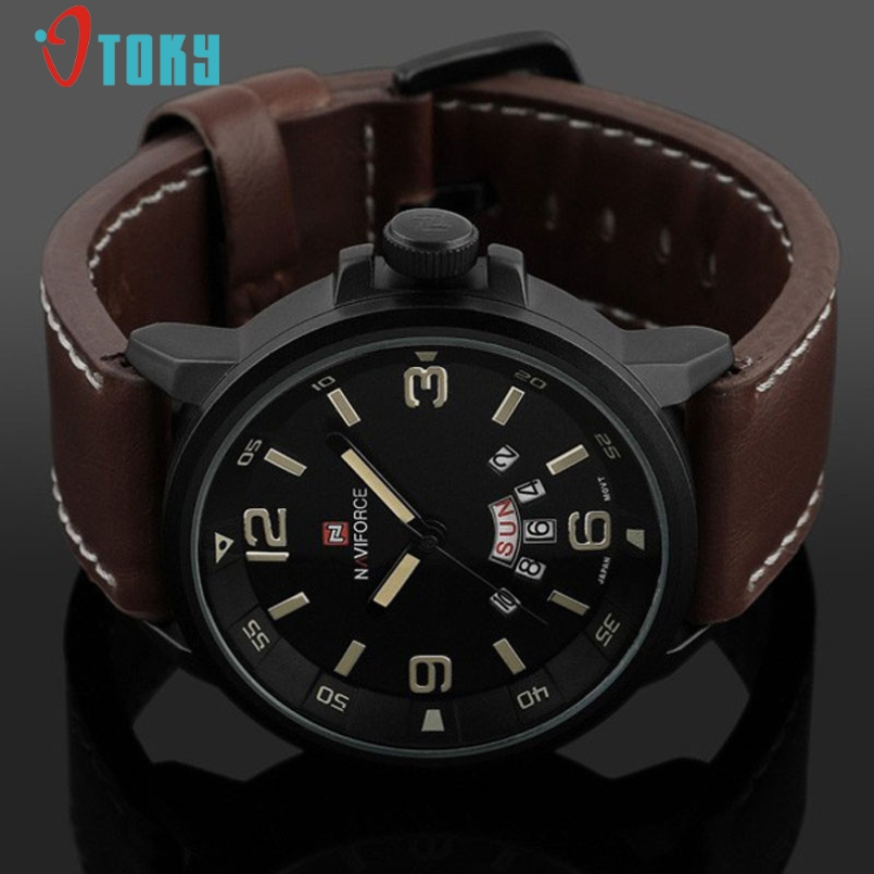 Excellent Quality Mens Watches Top Luxury Mens Business Clock Male Quartz Wrist watch Quartz Watch Relogio Masculino 2017 Black