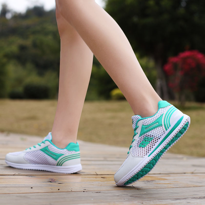 2018 summer new tenis feminino shoes for women breathable women sneakers mesh casual platform shoes Flats canvas shoes цена