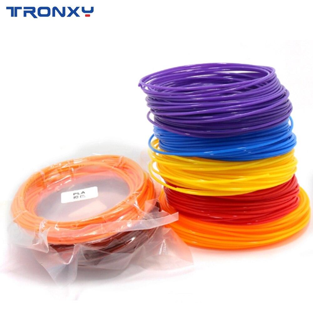 10 Meter PLA 1 75mm Filament Printing Materials Plastic For 3D Printer Extruder Pen Accessories Black