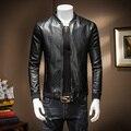 М ~ 4XL! новый 2016 мужская одежда кожаная куртка тонкий бейсбол промывной воды PU верхняя одежда топ костюмы