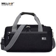 Дорожная Спортивная Сумка для мужчин, однотонный чемодан через плечо унисекс, портативные нейлоновые сумки, большая многофункциональная сумка на плечо для мужчин XA268WC