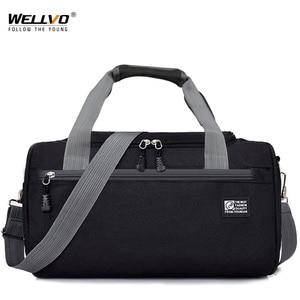 Image 1 - Дорожная Спортивная Сумка для мужчин, однотонный чемодан через плечо унисекс, портативные нейлоновые сумки, большая многофункциональная сумка на плечо для мужчин XA268WC