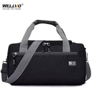 Image 1 - กระเป๋าเดินทางผู้ชาย Duffle Solid Crossbody กระเป๋า Unisex แบบพกพาไนลอนกระเป๋าถือขนาดใหญ่หลากสีสำหรับชาย XA268WC