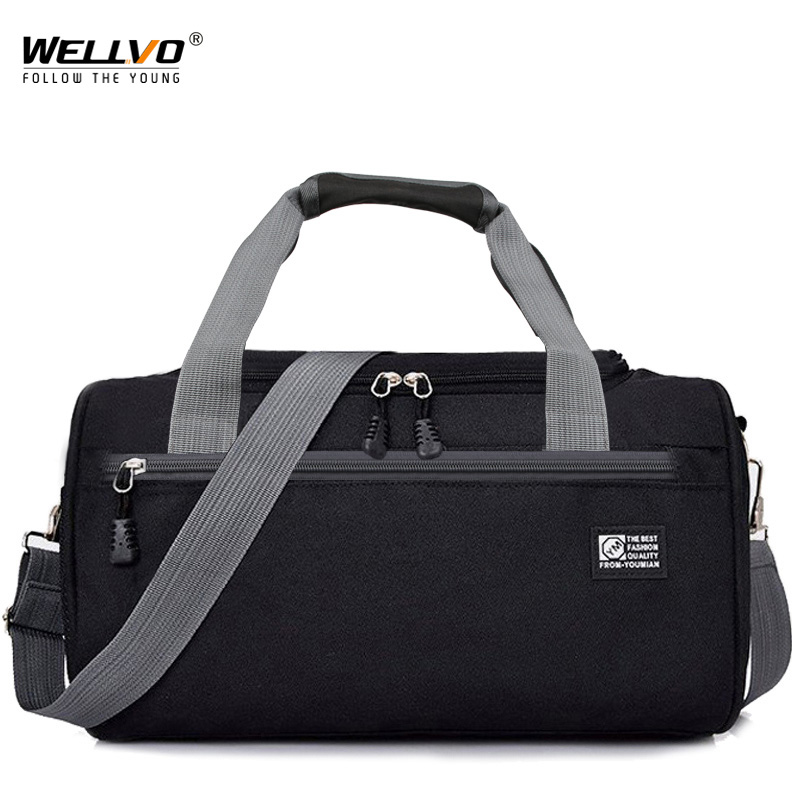 Men Travel Duffle Solid Crossbody Luggage Bag Unisex Portable Nylon Handbags Large Multifunctional Shoulder Bag For Male XA268WC