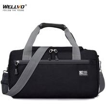 Men Travel Duffle Solid Crossbody Luggage Bag Unisex Portabl