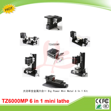 Mini lathe machine 6 In 1 TZ6000MP Big Power Mini Metal Lathe Kit for DIY & Teaching of School and Woodworking