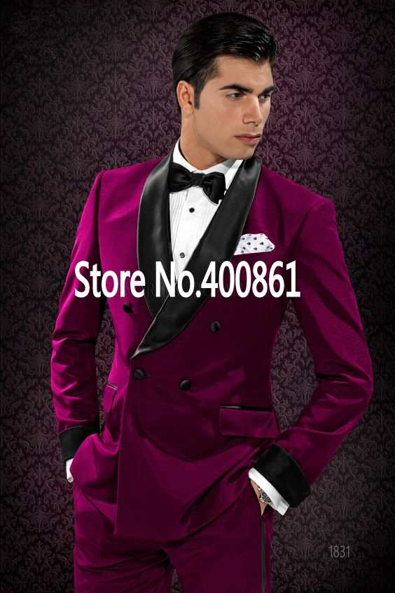 High Quality Mens Suits Groom Tuxedos Groomsmen Wedding Party Dinner Best Man Suits (jacket+pants+tie) K:2213 Luxuriant In Design