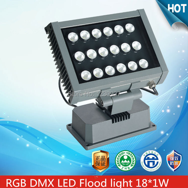 18w rgb led outdoor flood light colorful projection lamp Square shape outdoor landscape lighting waterproof IP65 DMX control