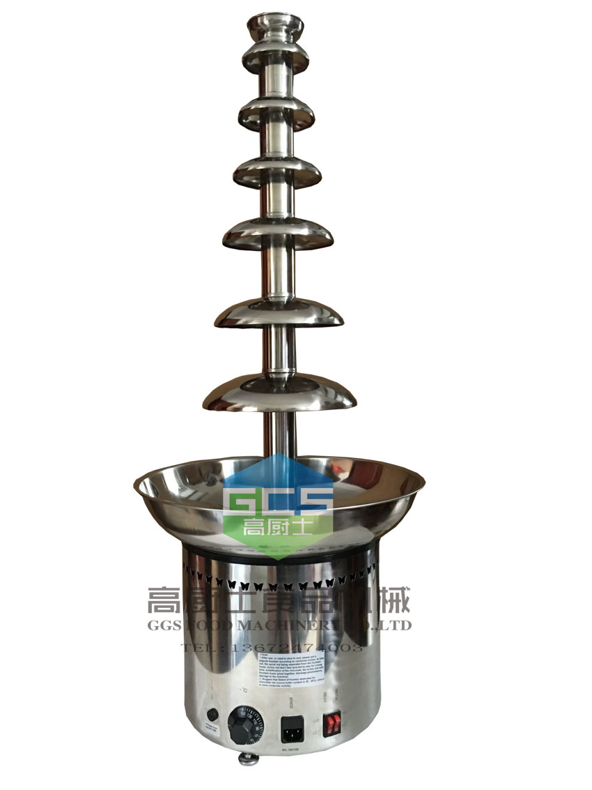 Free Shipping 1030mm Commercial 7 Tier Chocolate Fountain Machine With CE Approve Chocolate Melting Machine