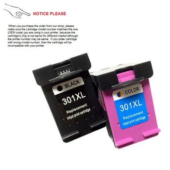 YOTAT Remanufactured ink cartridge for HP301 HP301XL Officejet 4630 4634  4639 Envy 4500 4502 4505 pr