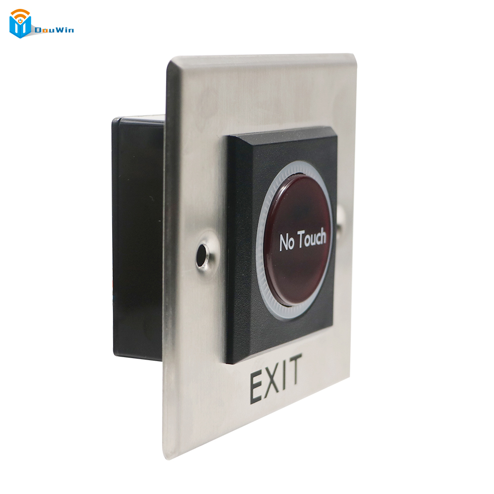 No Touch Door Exit Infrared Stainless Steel Touch Button Free Switch Sensor with LED Backlight DC 12V From Douwin ...