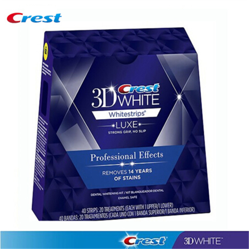 Crista 3d branco suave rotina whitestrips dental dentes branqueamento tiras 20 bolsa/40 tiras kit de branqueamento dente