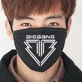 2016 nueva Negro bigbang Algodón Boca Máscara Anti-Polvo Máscaras de k-pop kpop GD TOP colectiva G-dragón Cara boca-mufla cara respirador