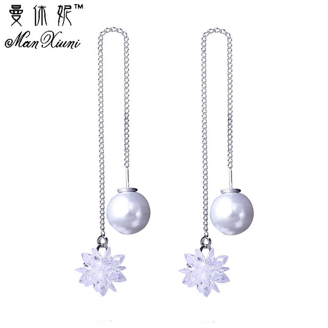 Hanging Earrings For Women Ice Flower CZ Earring with Stone boucles d'oreilles D
