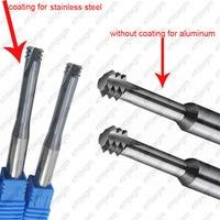 micro Carbide thread end mill M1 M1.2 M1.4 M1.6 M2 M2.5 M3 M4 M5 M6 M8 M10 Thread mills ,thread milling cutter short flutes