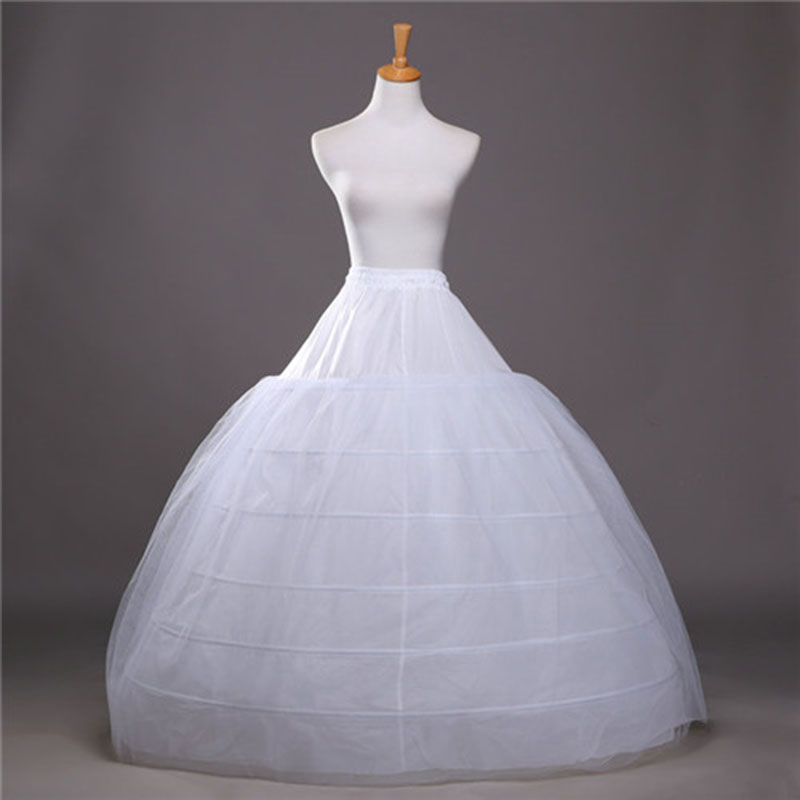 2018 SoDigne Ball Gown Petticoats For Wedding Dresses Elastic 6 Hoops One Tiers Dress Underskirt Crinoline Wedding Accessories