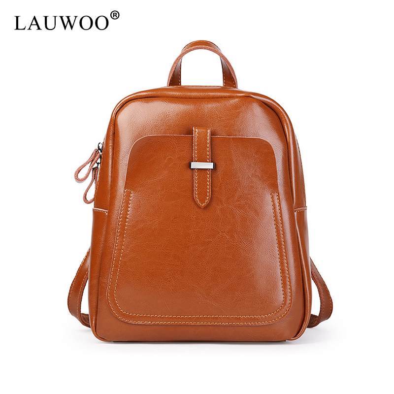 LAUWOO New Fashion women Genuine Leather backpack school bags for girls female vintage multifunctional backpack shoulder bags lauwoo new fashion women genuine leather backpack school bags for girls female vintage multifunctional backpack shoulder bags
