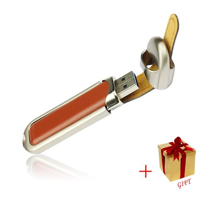 Подлинная Высокого класса USB 3.0 Flash Pen Drive кожаный Карты Памяти Диска 8 ГБ 16 ГБ 32 ГБ 64 ГБ 128 ГБ Флешки OTG USB Memory Stick