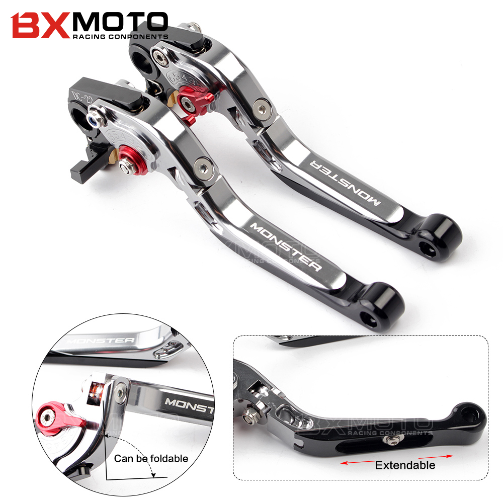 CNC Motorcycle aluminum Adjustable Foldable Extendable brake clutch levers For Ducati Monster 1200 S MULTISTRADA accessories for ducati multistrada 1200 dvt 2015 motorcycle accessories cnc billet aluminum folding extendable brake clutch levers