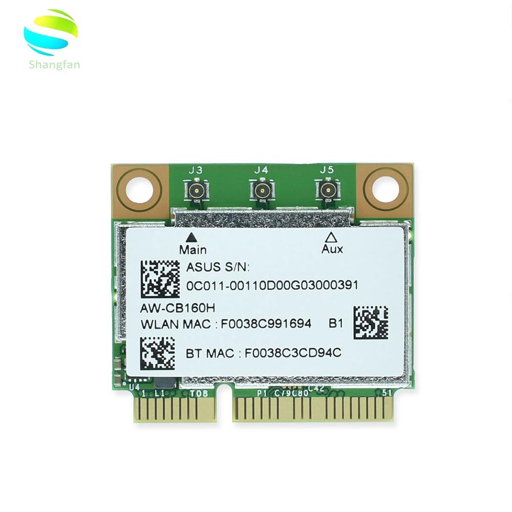 AzureWave AW-CB160H BCM94360HMB BCM94360 Half Mini PCI-express 802.11AC 1300Mbps Wireless WIFI WLAN Bluetooth4.0 Card fenvi wlan network new broadcom bcm94360hmb azurewave aw cb160h 802 11ac 1300mbps wireless ac wifi bluetooth 4 0 mini pci e card
