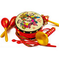 Chinese Traditional Toy Set Hand Drum Beat Rattles Baby Toys Educational Suona Horn Sand Hammer Gift For Kid