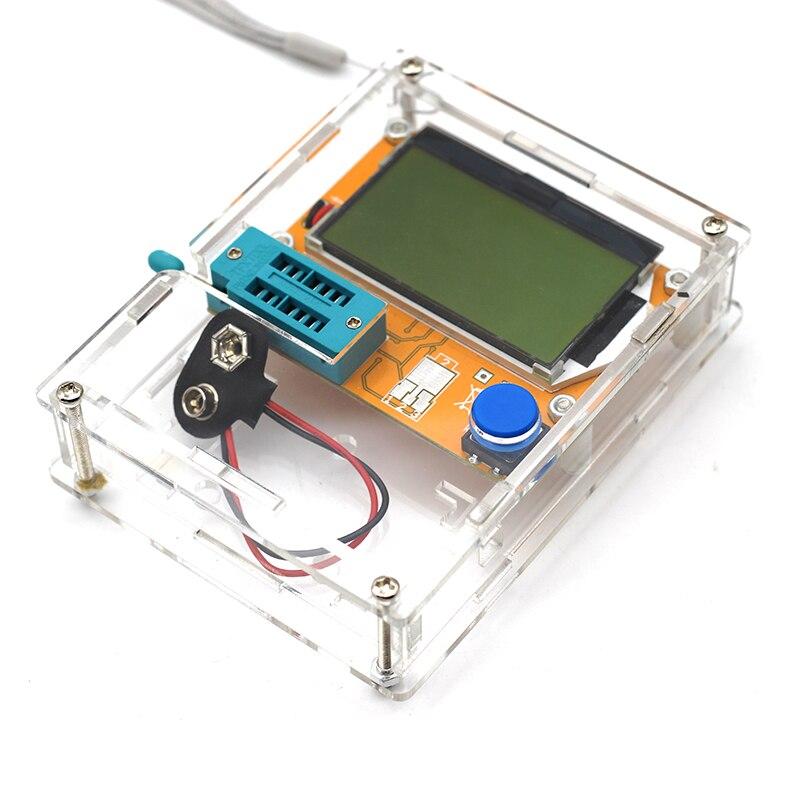 Multímetro Digital Transistor Tester LCR-T4 Mega328 M328 retroiluminación de triodo condensador ESR Metro MOS PNP/NPN L/C/R con el caso
