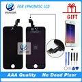100% garantía de alta aaa para iphone 5c pantalla lcd de pantalla táctil digitalizador asamblea pantalla completa pantalla de reemplazo negro blanco