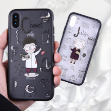 Phone Cases For iPhone X 8 7 6 Plus 5 5SE Cartoon Occupation Pattern Ultra PC for iphone XS Matt Hard Silicone TPU Back Cover