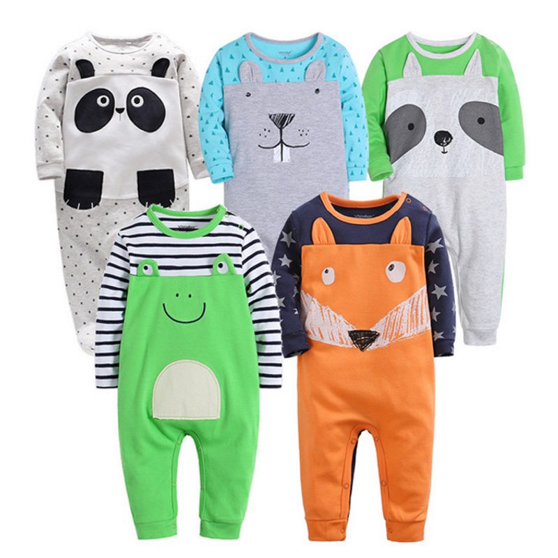 Newborn 6-24M baby boys 2019 spring baby   Rompers   soft Baby girls   romper   Cotton Baby Jumpsuit for kids boys Costumes