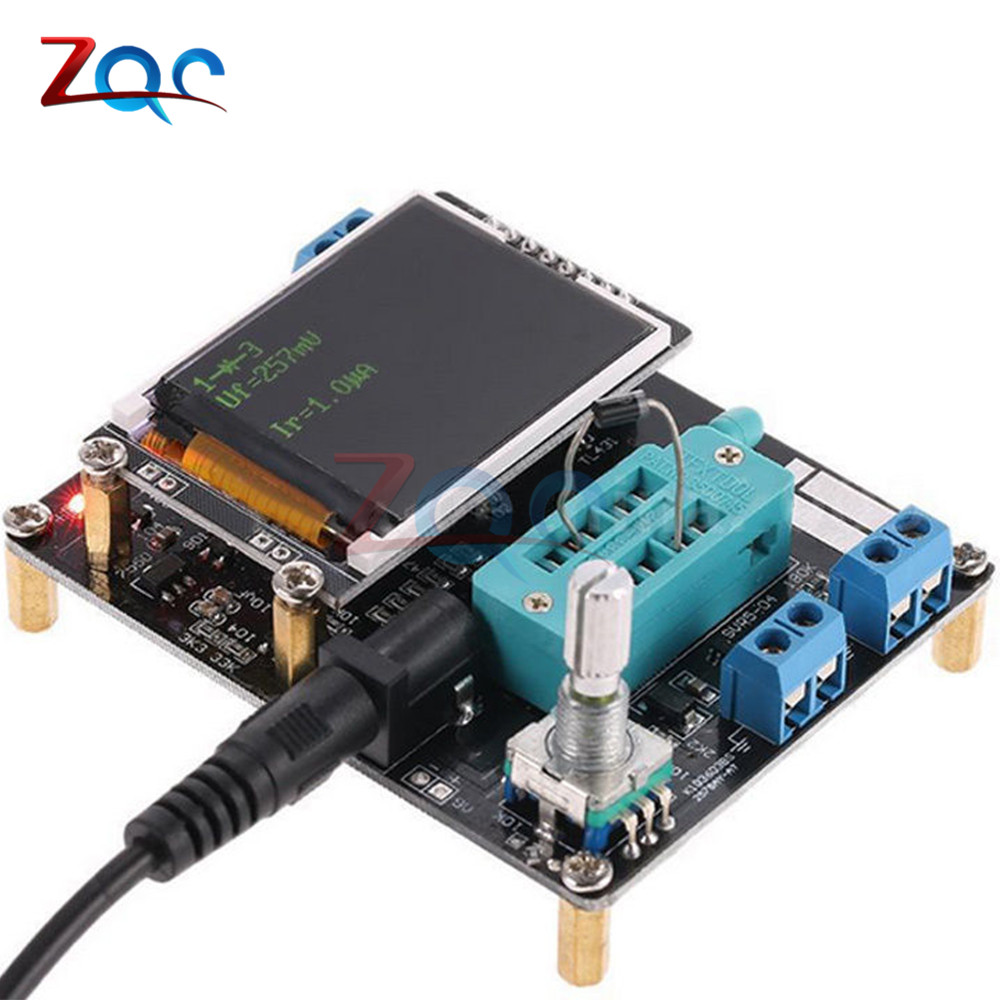 LCD GM328A Transistor Tester Diode Capacitance ESR Voltage Frequency Meter PWM Square Wave Signal Generator SMT Soldering Meter