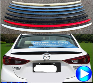 PAINT CAR REAR WING TRUNK LIP SPOILER FOR 14 17 MAZDA 3 M3 Axela 2014 2015 2016 2017 2018 2019 FAST BY EMS|Chromium Styling|   -