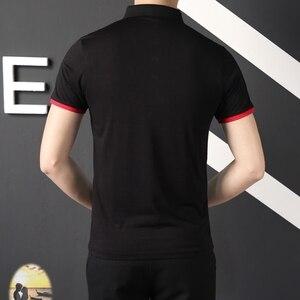 Image 2 - Mens בגדים 2019 קלאסי קיץ מותג קצר שרוול חולצת פולו גברים מקרית רגיל כותנה יוקרה מעצב Homme מוצק Slim Polos