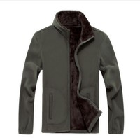 Men S Thick Fleece Jacket Plus Size 6XL Autumn Winter Sports Hoodies Casual Solid Color Coat