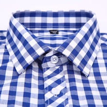 2018 New Men Casual Plaid Shirt High Quality 100% Cotton Long Sleeve Male Shirts Square Grid Social Business Casual Shirt