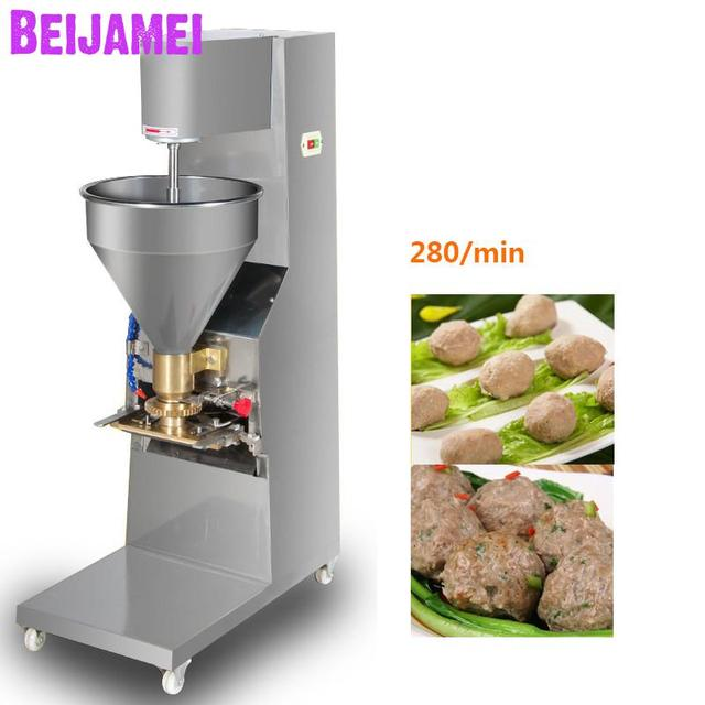 BEIJAMEI Commercial Electric Meatball Forming Machine Automatic Beef fish Pork Meat ball Maker former Price