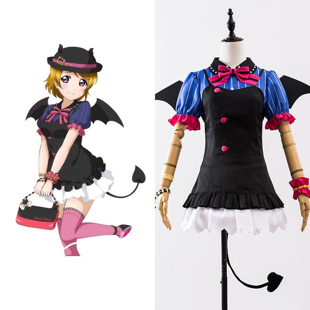 Love Live! New UR Koizumi Hanayo Little Demon Uniform Halloween Cosplay Costume Girls Female Dress Full Set