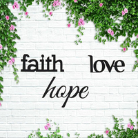Faith love hope wood signs Wall decor wood