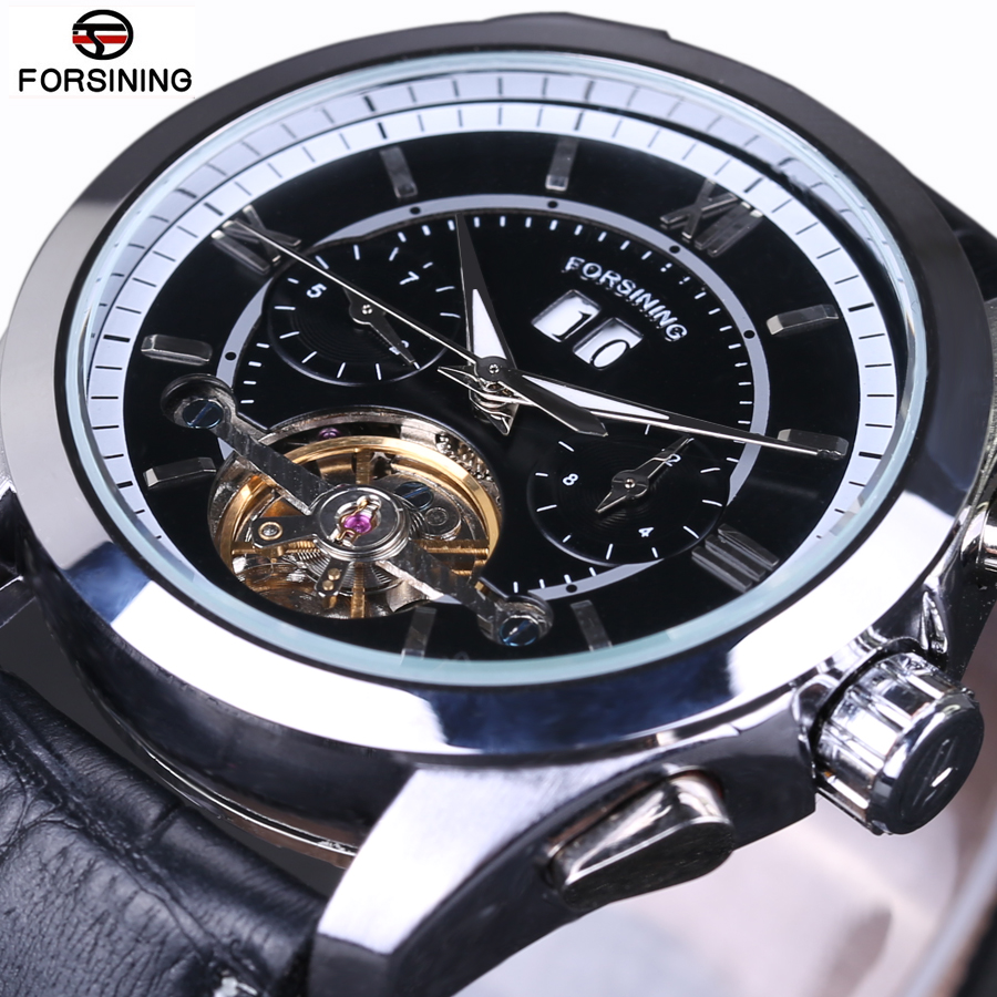 New Luxury Brand FORSINING Vintage Tourbillon Auto Mechanical Wrist Watches Casual Sports Men s Watch Clocks