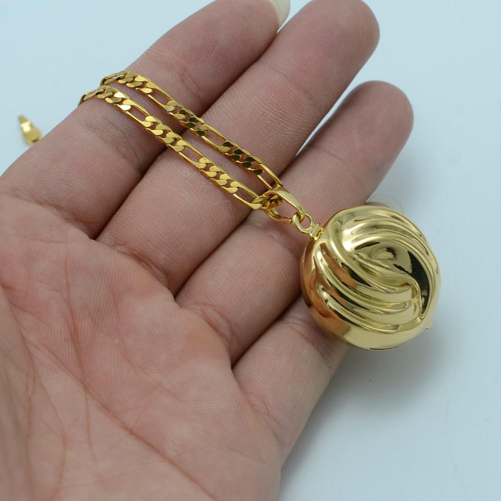 Anniyo Electroforming Necklaces Gold Color ArabAfrica Pendant