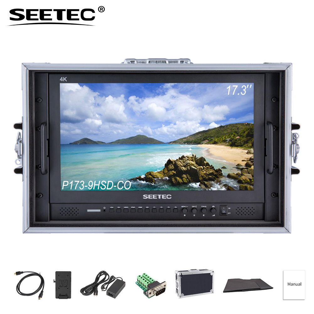 купить SEETEC P173-9HSD-CO 4K HDMI 3G SDI Carry on Broadcast Director Monitor Full HD 1920x1080 Aluminum Design with YPbPr Video Audio по цене 46238.3 рублей