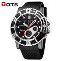 OTS Relógio Marca de Topo Mens Esportes Série de Luxo de Multi-funcional Quartzo Analógico Digital Alarme Cronômetro Relógios Casuais Para Homem
